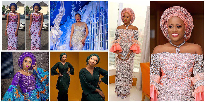 Ladies checkout these 9 Beautifully Blinged Out Stoned Aso Ebi Styles