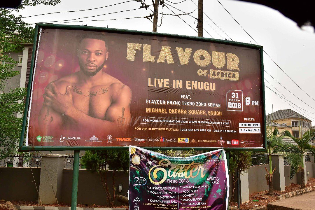 All the Photos from Flavour Live in Enugu free concert on