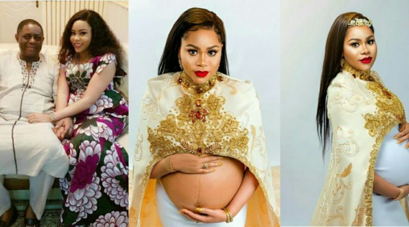 Maternity Photos: Fani Kayode's wife Precious is pregnant with triplets