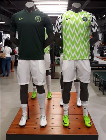 watch 64faf ed624 Foreigners proudly rocking the new Super Eagles' jersey ...