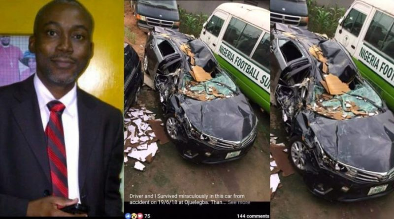 Doctor and his driver survive miraculously after tanker fell and crushed his car in the recent Ojuelegba incident