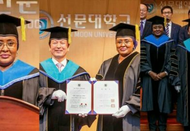 First Lady, Aisha Buhari gets an Honorary Doctorate Degree award in South Korea